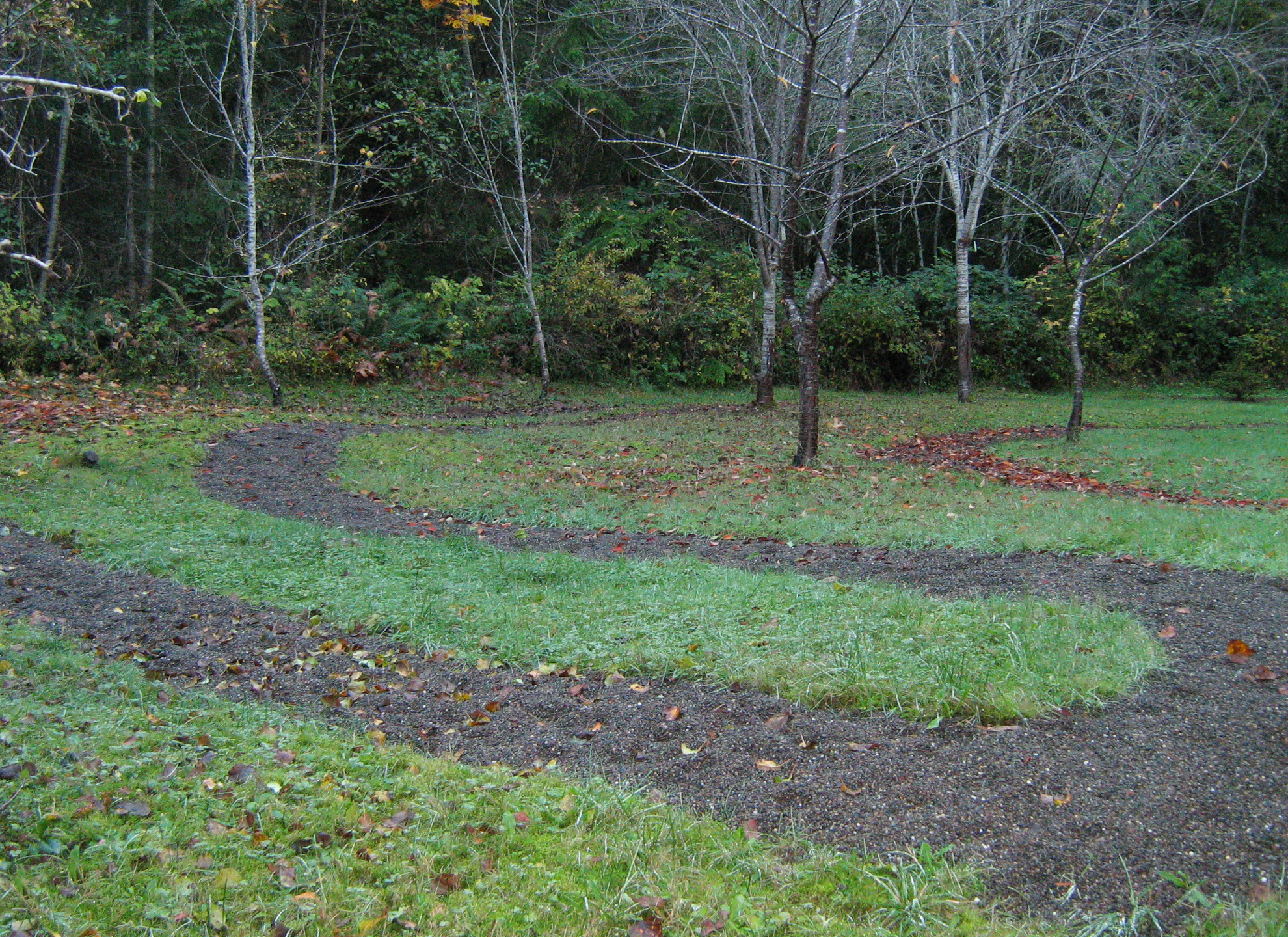 Photo of a section of the labyrinth at Hypatia-in-the-Woods