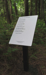 Jeanne's beautiful poems have new locations on St. Peter Hospital grounds